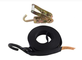 Boat Tie down S Hook with wivel J Hook Ratchet Buckle 35mm x 6M x 650kg | 204031