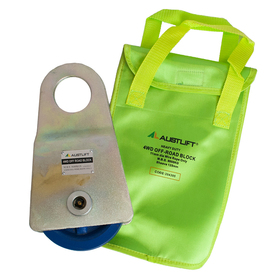 4WD Recovery Off-Road Block Incudes Vinyl Bag MBS 8 Ton, Sheave 125mm, Wire Rope 11mm | 204395