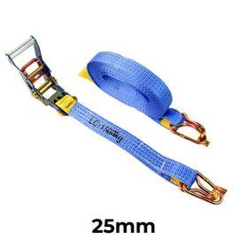 Ratchet Tie Down Hook & Keeper 25mm x 6M x LC500kg | 204026