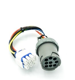 Adapter (54-00585-21) Evaporator Fan Motor 9 Pin Amp Plug Round to Square Suit Carrier Reefer Shipping Container
