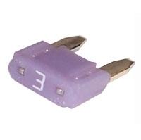Fuse mini 3amp 32v violet TK-41-3077 Fuse mini 3amp 32v violet Australian after market part