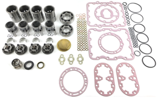 X430 Compressor Kit - No Crank thermo king  X430-LS REBUILD KIT X430 AND RODS Australian after market parts Compressor Overhaul Kit for X430 with Small 1 Inch Crankshaft  TB-37-X430 KIT X430 COMP SM SHAFT NO CRANK OR RODS (This Kit has NO Crankshaft or Connecting Rods) Only Compatible with R12 and R22 Refrigerant