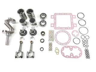 X430 w/small crankshaft Overhaul Kit with New Crankshaft and Conn Rods Overhaul kit TB-37-X430C KIT X430 COMP SM SHAFT W/CRANK & RODS   Compressors:  - X430, X 430, X-430  - X430R, X 430R, X-430R  SMALL SHAFT   Set includes:  - gasket set: 30-0243, 300243, 300-243, 30-243, 30243 (30-0209, 300209, 300-209, 30-209, 30209) x 1  - crankshaft: 22-0655, 220655, 220-650, 22-655, 22655 x 1  - shaft seal: 22-1100, 221100, 221-100 x 1  - cylinder: 22-0656, 220-656, 220-656, 22-656, 22656 x 4  - piston: 22-0850, 220850, 220-850, 22-850, 22850 x 4  - cylinder head: 22-0990, 220990, 220-990, 22-990, 22990 x 4  - connecting rod: 22-0639, 220639, 220-639, 22-639, 22639 x 4  - Pans: 22-1246, 221246, 221-246 (22-1003, 221003, 221-003) x 4  - bearing: 77-2306, 772306, 772-306 x 1  - bearing: 77-0169, 770169, 770-169, 77-169, 77169 x 1  - suction screen: 22-0306F, 220306F, 220-306F,22-306F, 22306F x 1   Australian after market part