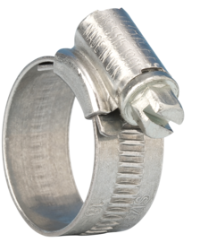 Jubilee 0MS Zinc-Plated Mild Steel Slotted Hex Worm Drive, 13mm Band Width, 16mm - 22mm Inside Diameter