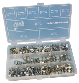 JA165MS Jubilee Junior Asst Pk Mild Steel Zinc Plated 165pcs