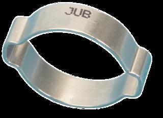 OC1720MS Jubilee O Clip 2-ear Mild Steel Zinc Plated 17-20mm