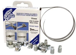 JB-MB1707 Multiband Mild Steel Zinc Plated 11mm Pocket Pack
