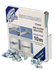JB-MB1708 Multiband Mild Steel Zinc Platedl 11mm Handy Pack