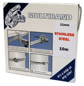 JB-MB1801 Multiband 304 Stainless Steel 11mm Banding 10m