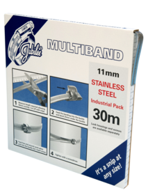 JB-MB1802 Multiband 304 Stainless Steel 11mm Banding 30m