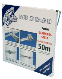 JB-MB1602 Multiband 304 Stainless Steel 7mm Banding 50m