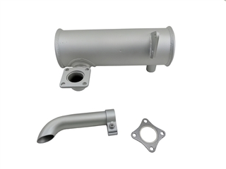 "MUFFLER KIT FOR ALL ""T"" SERIES TRUCK UNITS  Note  Includes: Muffler, Clamp, End Pipe & Gasket THERMO KING 12-0989 120-989 120989 12-989 12989"