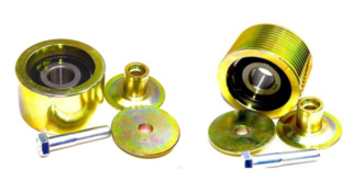 Pulley Idler Kit Smooth & Grooved (70-9183) Steel Bearings Thermo King SLX / SLXe / SLXi